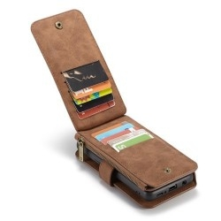 CASEME multifunkciós barna telefontok pénztárca Samsung Galaxy S9 készülékhez