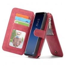 CASEME multifunkciós piros telefontok pénztárca Samsung Galaxy S9 készülékhez