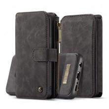 CASEME multifunkciós fekete telefontok pénztárca Samsung Galaxy S9 készülékhez