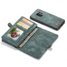 CASEME multifunkciós kék telefontok pénztárca Samsung Galaxy S9 készülékhez