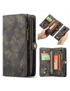 CASEME multifunkciós szürke telefontok pénztárca Samsung Galaxy S9 készülékhez