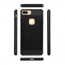 Apple Iphone 7 Plus ütésálló, karbon mintás, szilikon tok, fekete