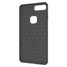 Apple Iphone 7 Plus ütésálló, karbon mintás, szilikon tok, szürke