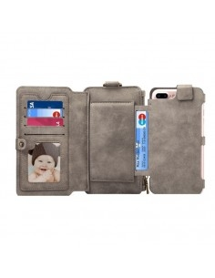 DIBASE multifunkciós szürke telefontok pénztárca Apple Iphone 7 Plus készülékhez