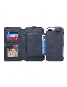 DIBASE multifunkciós kék telefontok pénztárca Apple Iphone 7 Plus készülékhez