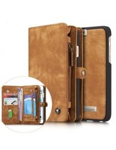 CASEME multifunkciós barna telefontok pénztárca Apple Iphone 6 készülékhez