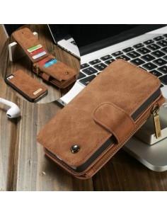 CASEME multifunkciós barna telefontok pénztárca Apple Iphone 5 készülékhez
