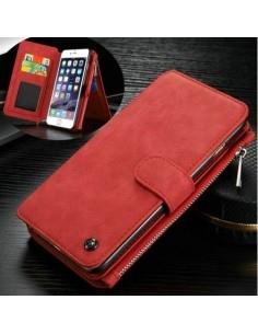 CASEME multifunkciós piros telefontok pénztárca Apple Iphone 6 készülékhez