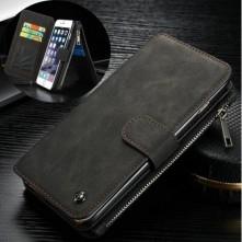 CASEME multifunkciós fekete telefontok pénztárca Apple Iphone 6 készülékhez