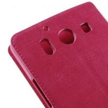 Microsoft Lumia 950, oldalra nyíló, mappa tok, notesz tok, pink