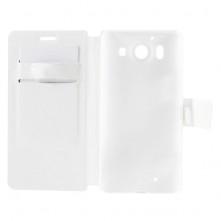 Microsoft Lumia 950, oldalra nyíló, mappa tok, notesz tok, fehér