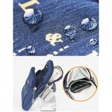 Karra csatolható tok futáshoz, sportoláshoz, 8,5*17,5 cm, kék