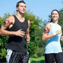 Karra csatolható tok futáshoz, sportoláshoz, 7,5*15 cm, narancssárga