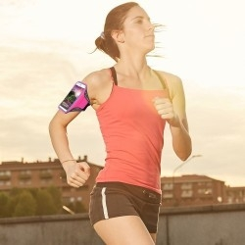 Karra csatolható tok futáshoz, sportoláshoz, 7,5*15 cm, pink