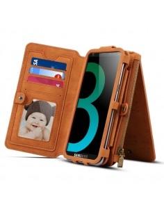 DIBASE multifunkciós barna telefontok pénztárca Samsung Galaxy S9 készülékhez