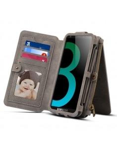 DIBASE multifunkciós szürke telefontok pénztárca Samsung Galaxy S9 készülékhez
