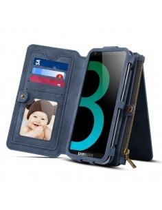 DIBASE multifunkciós kék telefontok pénztárca Samsung Galaxy S9 készülékhez
