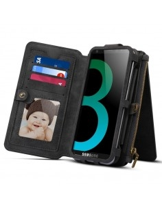 DIBASE multifunkciós fekete telefontok pénztárca Samsung Galaxy S9 készülékhez