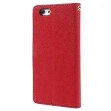 MERCURY GOOSPERY oldalra nyíló tok Apple Iphone 6, készülékhez, piros