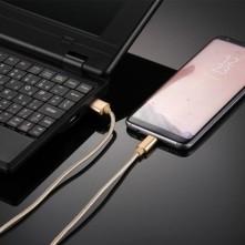 USB Type-C csatlakozású töltőkábel, adatkábel - 1 m-es - Arany