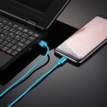 USB Type-C csatlakozású töltőkábel, adatkábel - 2 m-es - Kék