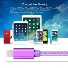 Apple Lightning csatlakozású töltőkábel, adatkábel - 3 m-es - Lila