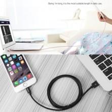 Apple Lightning csatlakozású töltőkábel, adatkábel - 3 m-es - Kék