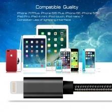 Apple Lightning csatlakozású töltőkábel, adatkábel - 3 m-es - Fekete