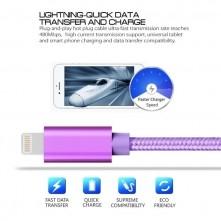 Apple Lightning csatlakozású töltőkábel, adatkábel - 2 m-es - Lila