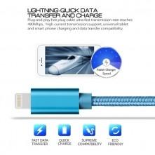Apple Lightning csatlakozású töltőkábel, adatkábel - 2 m-es - Kék
