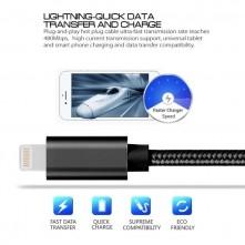 Apple Lightning csatlakozású töltőkábel, adatkábel - 2 m-es - Fekete