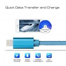 Apple Lightning csatlakozású töltőkábel, adatkábel - 1 m-es - Kék