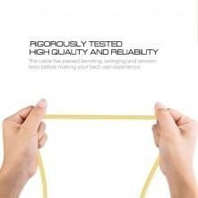 MicroUSB csatlakozású töltőkábel, adatkábel - 3 m-es - Sárga