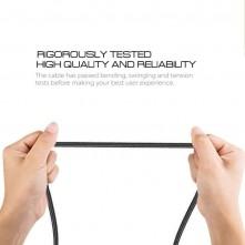 MicroUSB csatlakozású töltőkábel, adatkábel - 3 m-es - Fekete