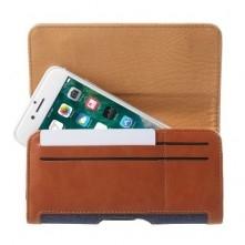 Univerzális övre fûzhetõ mobiltelefon tartó - 16.4 x 8 x 1.4 cm - KÉK - BARNA