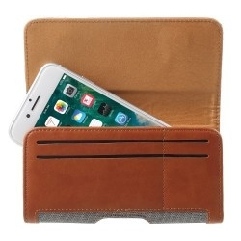 Univerzális övre fûzhetõ mobiltelefon tartó - 16.4 x 8 x 1.4 cm - SZÜRKE - BARNA