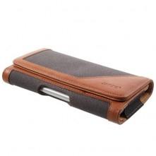 Univerzális övre fûzhetõ mobiltelefon tartó - 16.4 x 8 x 1.4 cm - FEKETE - BARNA