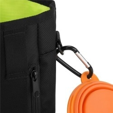 Kutyasétáltató táska vízhatlan anyagból - Övre akasztható - FEKETE