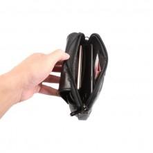 Övre fûzhetõ bõrtok karpánttal maximum 6.5 inches készülékekhez - FEKETE