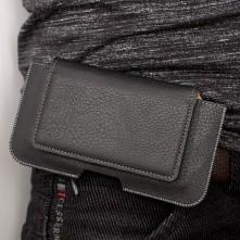Univerzális övre fûzhetõ fekete színû mobiltelefon tartó 175 x 95 x 12mm