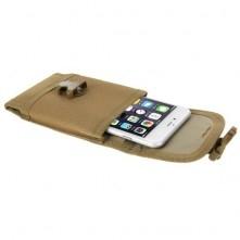 Övre fûzhetõ csatos mobiltelefon tok 5.5 inches készülékekhez - BARNA
