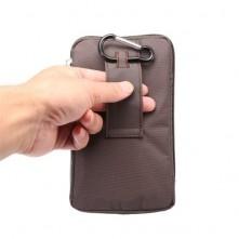 Övre fûzhetõ 3 rekeszes vízhatlan telefontok övtáska - BARNA