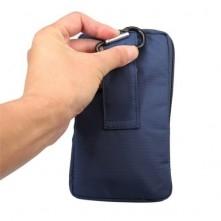 Övre fûzhetõ 3 rekeszes vízhatlan telefontok övtáska - KÉK