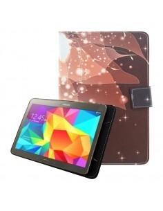 Univerzális 7 colos mintás tablet tok - Kávébarna