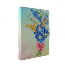 Univerzális 10 colos mintás tablet tok - Virág