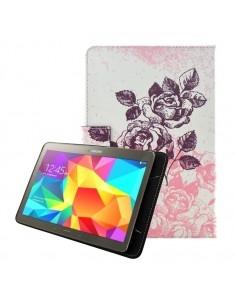 Univerzális 10 colos mintás tablet tok - Rózsa