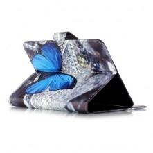 Univerzális 7 colos mintás tablet tok - Kék pillangó