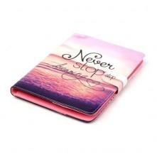 Univerzális 7 colos mintás tablet tok - Never stop dreaming