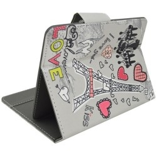 Univerzális 7 colos mintás tablet tok - Eiffel-Torony