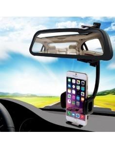 HAWEEL univerzális visszapillantóra rögzíthetõ telefon tartó 4-8 cm széles készülékekhez - FEKETE